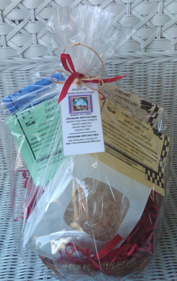 AWESOME SPECIALTIES' SOUP'S ON GIFT BASKET!